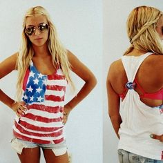 American Flag tank top. Perfect for Watershed this summer.