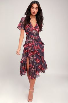 d82e5dcf04e7 Cute Floral Dresses and Printed Party Attire   Latest Styles of Women's  Floral-Print Dresses at Great Prices