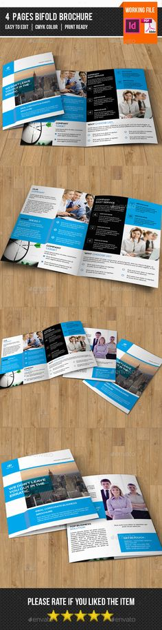 Corporate Bifold Brochure-V290 - Corporate Brochure Template InDesign INDD. Download here: http://graphicriver.net/item/corporate-bifold-brochurev290/12330861?s_rank=1711&ref=yinkira
