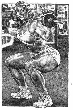 ROBERT CRUMB - weight lifter