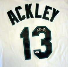 Dustin Ackley Signed Jersey - Home Replica White - Autographed MLB Jerseys by Sports Memorabilia. $285.00. The Mariners promoted Ackley from the Tacoma Rainiers for his first major league start at second base on June 17, 2011. Ackley hit a single in his first at bat against the Philadelphia Phillies' Roy Oswalt on June 17. Ackley recorded his first major league home run on June 18 and his first major league triple on June 19. Ackley finished the season with a .273 av...
