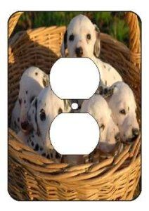 Dalmatias Puppies Light Switch Outlet Covers by mycustomvinyl. $6.99. Covers are durable and easy to clean. FREE SHIPPING!!. High Gloss Finish. Decorated your home. ** NOW YOU CAN ADD YOUR PERSONAL TOUCH TO YOUR SWITCH OUTLET BY PERSONALIZING IT AND REFLECTING YOUR AND YOUR FAMILY'S PERSONALITY.  PERSONALIZE IT WITH YOUR FAVORITE DESIGN OR YOU CAN ALSO EMAIL US YOUR OWN, PETS, OR FAMILY PICTURE AND WE WILL PRINT IT ON THE SWITCH OUTLET COVERS **  ALL SWITCH OUTLET COVE...