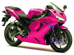 Hot Pink Kawasaki Ninja zx6rr....i want it, just no purple