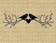 Two Love Birds Lovebirds on Cherry Blossom Branch by TheMadModder, $1.00