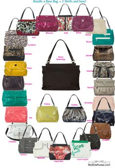 I own and sell miche bags....basically to fund my habit. I have red, brown/snake, dark brown/burgundy croc, peachy cream, mustard, silver/grey, white, coral...I have stopped buying them lately.