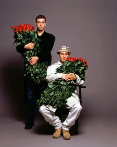 """synth-pop-boy: """" Pet Shop Boys photographed by Eric Watson, 1990 """""""