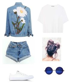 """💁🏻💁🏻💁🏻💁🏻"" by serratekin ❤ liked on Polyvore featuring Vince and Converse"