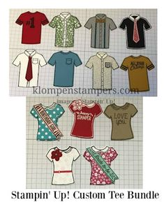 Klompen Stampers (Stampin' Up! Demonstrator Jackie Bolhuis): Fun in the Shirt Factory!