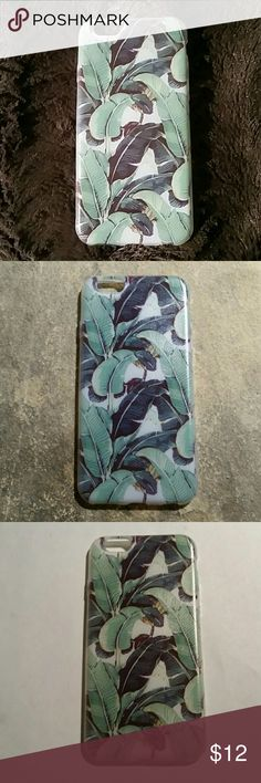 NEW 6s Tropical Banana Leaf/ Palm Soft Phone Case One BRAND NEW, UNUSED, Super fun soft clear silicone phone case with a beautiful image of tropical banana plants / baby palm fronds ! Excellent quality, very durable case & printed image. For the iPhone 6s.  MORE PHONE CASES IN MY CLOSET for iPhone & Samsung!  Thank you for visiting my closet, and happy poshing!! :)  SORRY, NO TRADES  BUNDLE & SAVE  Tags: exotic, Florida, lily, kate, floral, jungle, plants, flowers, tropics, tropic, elegant…
