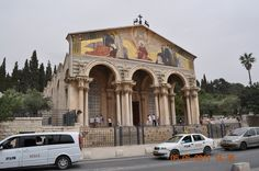 Church of Mount Olives, Jerusalem on top are the dear depicting as the deer panteth for water I too