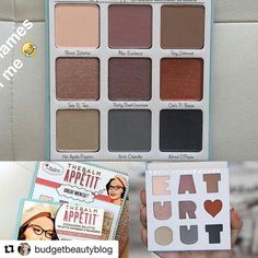 Fuck this is so cute! But it's leaning cool toned so I'll probably pass on it. #Repost @budgetbeautyblog with @repostapp  EAT UR  OUT #TheBalmAppetit by @thebalm_cosmetics This #Palette is soooo cute! The packaging is so much fun (as always) and I love the shades combination and NAMES lol!  #ComingSoon Will keep u updated  What are your thoughts?  #Trendmood #thebalm #thebalmcosmetics #cosmetics #eyeshadow #eyeshadowpalette #ilovemakeup #eyes #eotd #holidays2016 #instabeauty #bbloggers pic…