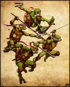 been a long time since i submitted anything. just now saw the 2007 TMNT movie. about 3 hours TMNT Teenage Ninja Turtles, Ninja Turtles Art, Comic Books Art, Comic Art, Usagi Yojimbo, Arte Nerd, Photo Images, Bd Comics, Haha