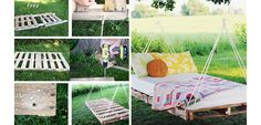 DIY Pallet Swing Bed - DIY Outdoor Furniture from Pallets - Click for Tutorial