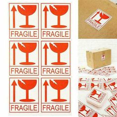 LARGE 150 Fragile Handle With Care Stickers Packing Labels Shipping Tags Sticker #Yusland Note Memo, Embroidery Tools, Clear Plastic Bags, Display Block, Diamond Paint, Label Paper, Adhesive, Stationery, Handle