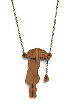 I could easily make this metal.. I love the rain drop on the chain. Very cute ode to Banksy.