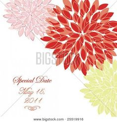 Flower greeting invitation card