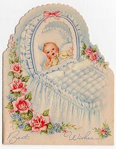 Vintage baby congratulations card.