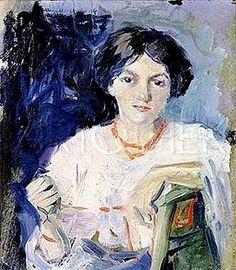 August Macke ~ Lezen in de kunst: Elisabeth