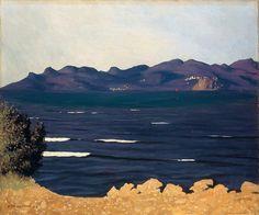Félix Vallotton; L'Estérel et la baie de Cannes, 1925. oil on canvas, 54 x 65 cm