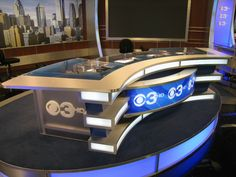 Design By George Allison - Desk For CBS Philadelphia, PA (CBS 3 Site)