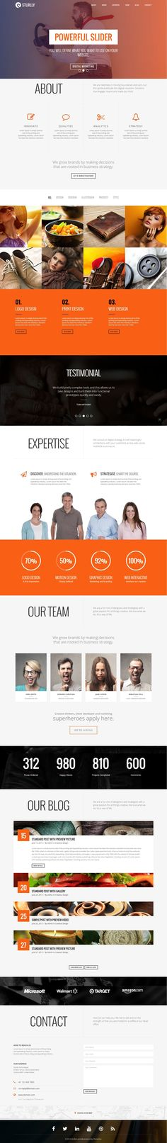 Multipurpose One Page Bootstrap Theme for Design Agency #website #template