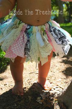 Fabric Tutu Shabby Tutu Scrappy Rag Tutu I by InsideTheTreehouse, $32.00