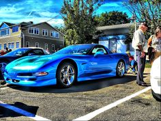 Blue C5 Corvette on the island by redvette, via Flickr