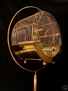 OMG!  I have this Art Deco birdcage in chrome!  I bought it at a small antique shop in Whitefish, MT for $30 about 30 years ago.