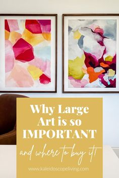 One of the biggest decor mistakes is choosing wall decor that is too small. Learn the secrets to picking big wall art and why the correct size will make a huge difference in the look of your room! Diy Furniture Projects, Diy Home Decor Projects, Diy Room Decor, Wall Decor, Interior Decorating Styles, Decorating Blogs, Interior Design, Affordable Furniture, Affordable Home Decor