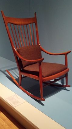 Sam Maloof chair ... what a masterpiece.