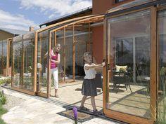 Pergola, Gazebo, Four Seasons Room, Patio Enclosures, Contemporary House Plans, Side Garden, Breezeway, Backyard Bbq, Glass Door