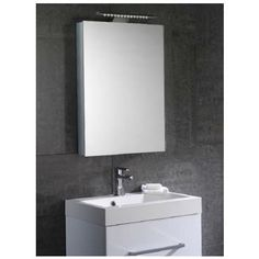 Hib xenon 50 led aluminium illuminated bathroom cabinet aura mirror bathroom cabinet with lights mozeypictures Gallery