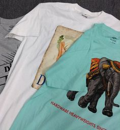 Graphic tees are such a versatile item - Pick up these #DiamondSupply shirts for a steal at $10 each! #DiamondLife | www.platosclosetnewmarket.com