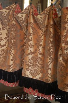 Beyond the Screen Door: Brown, Red and Gold Window Treatments