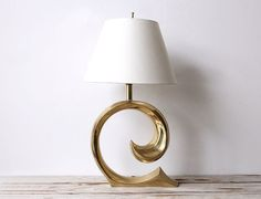 Pierre Cardin Large Glam Brass Lamp. by GallivantingGirls on Etsy, $755.00