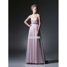 A-line Sweetheart Neckline Floor length with Beaded Waist Prom Dress PD33930 at belloprom.com