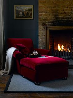 Sunday Daybed in cotton matt velvet 'Claret' £810  http://www.sofa.com/shop/sofas/armchairs/sunday/#110-CMVCLA-0-0