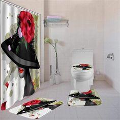 Shower Curtain Sizes, Bathroom Shower Curtains, Black Bathroom Sets, Rugs, Contour, Bath Mat, Jazz, Hooks, Toilet