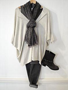 Sandwich pullover, £99 Charli vest top, £39 Inwear jeans, £64.95 Noa Noa scarf, £25 Unisa boots, £162  http://www.exivboutique.co.uk/item/36687/1451320784-winter-wht-knitwear