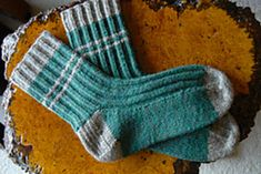 Woodsman's Socks by Elizabeth Zimmermann from Knitting Around, & The Opinionated Knitter