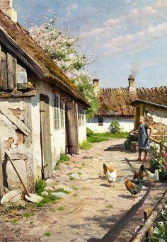 Diptyque's Crossing....: Les paysages de l'artiste danois Peder Mork Monsted