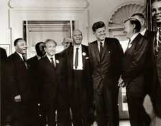 vintage everyday: President John F. Kennedy, Martin Luther King and Other Civil Rights Leaders, 1963