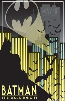 Batman Art Deco by CuddleswithCats