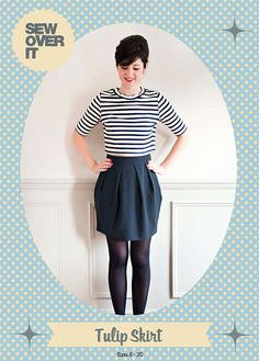 New PDF sewing pattern from Sew Over It: Tulip Skirt!