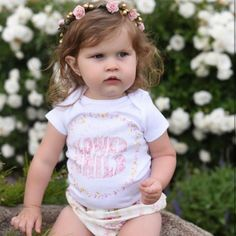 « FLOWER CHILD » BODYSUIT. The Pine Torch. Boho baby onesie, floral baby one piece, hipster baby, baby girl cltohes