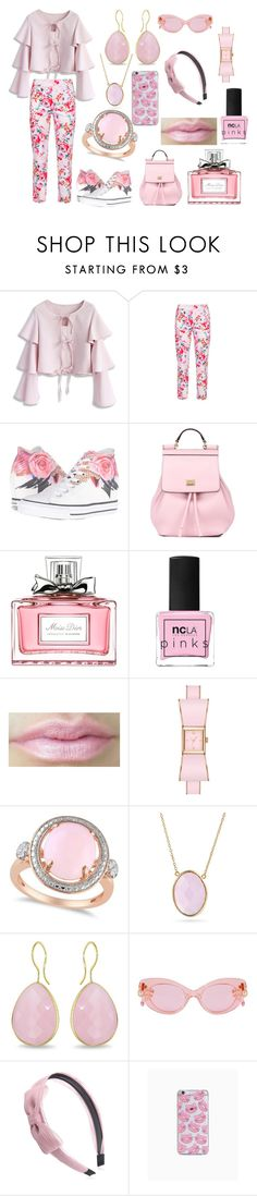 """Untitled #218"" by mselim ❤ liked on Polyvore featuring Chicwish, Vincenzo Allocca, Converse, Dolce&Gabbana, Christian Dior, ncLA, Kate Spade, Allurez, Bling Jewelry and Ice"