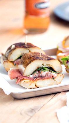 Serves 4 · No bread, no problem — these savory sandwiches are main course and side all in one yummy package. Gourmet Recipes, Cooking Recipes, Healthy Recipes, Good Food, Yummy Food, Tasty, Sandwich Recipes, Potato Sandwich, Deli Sandwiches