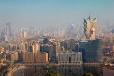 Macau vista do observatório da Macau Tower
