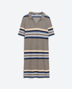Image 8 of TURTLE NECK STRIPED DRESS from Zara