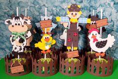 Veja mais em - www.elo7.com.br/dianartsartesanatoemeva 1 Birthday, Boy First Birthday, First Birthday Parties, Birthday Party Themes, First Birthdays, Decoration Shabby, Farm Party, Farm Theme, Balloon Animals